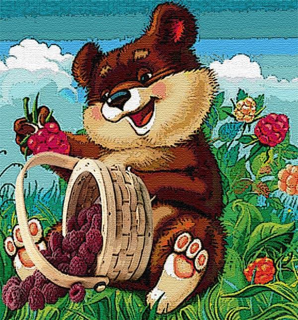 мишка с ягодами картинки
