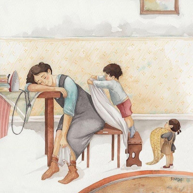 картинки когда мама устала каша, приготовленная мультиварке